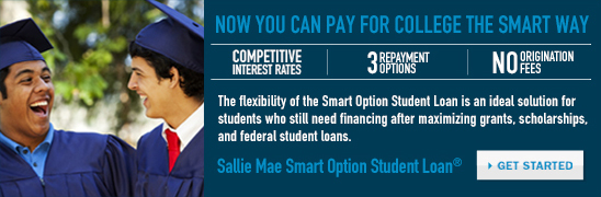 Pay for college the smart way with Sallie Mae!
